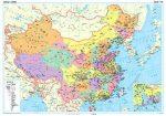 Kína politikai falitérkép - GiziMap