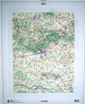 Pécs és környéke dombortérkép - HM