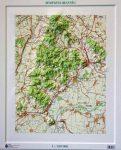 Zempléni-hegység dombortérképe - HM