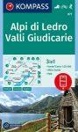 WK 071 - Alpi di Ledro - Valli Giudicarie turistatérkép - KOMPASS