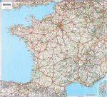 Franciaország politikai falitérképe - Michelin
