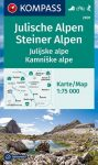 WK 2801 - Juliai Alpok-Steiner Alpok turistatérkép - KOMPASS