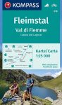 WK 618 - Fleimstal / Val d. Fiemme turistatérkép - KOMPASS