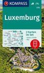 WK 2202 - Luxenburg 2 részes turistatérkép - KOMPASS