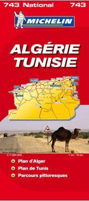 Algéria / Tunézia térkép - Michelin 743