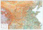 Kína középső része falitérkép - GiziMap