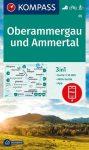 WK 05 - Oberammergau und Ammertal turistatérkép - KOMPASS