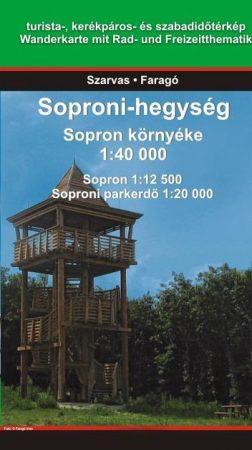 Soproni-hegység / Sopron környéke térkép - Szarvas map