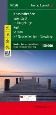 Neusiedler See-Eisenstadt-Leithagebirge-Rust-Sopron-Seewinkel Nationalpark turistatérkép - f&b WK 271