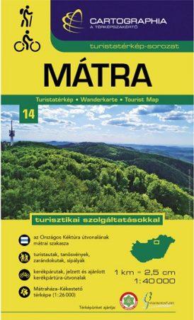 Mátra turistatérkép - Cartographia