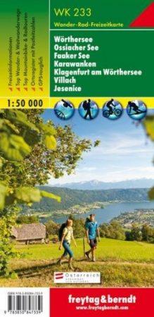 Wörthersee – Ossiacher See – Faaker See – Karawanken – Klagenfurt am Wörthersee – Villach – Jesenice turistatérkép - f&b WK 233