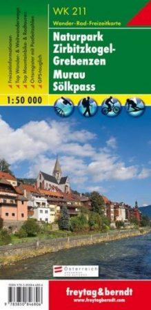 Naturpark Zirbitzkogel-Grebenzen – Murau – Sölkpass turistatérkép - f&b WK 211
