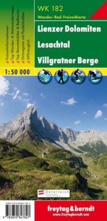 Lienzer Dolomiten – Lesachtal – Villgratner Berge turistatérkép - f&b WK 182