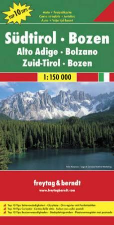 No 1. - Dél-Tirol - Bozen Top 10 Tipp autótérkép - f&b AK 0611