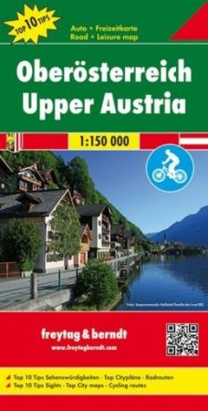 OE 22 - Felső-Ausztria Top 10 Tipp autótérkép - f&b