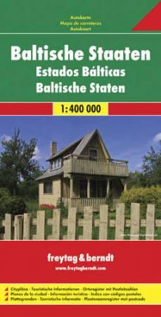 Balti államok autótérkép - f&b AK 8101