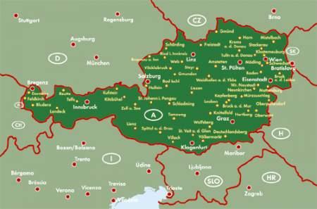 ausztria megyéi térkép Ausztria Supertouring atlasz   f&b ÖTOUR SP   Útikönyv   Térkép  ausztria megyéi térkép