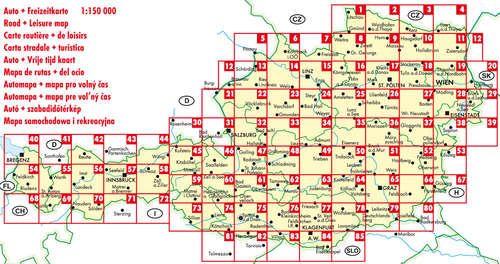ausztria irányítószámos térkép Ausztria Supertouring atlasz   f&b ÖTOUR SP   Útikönyv   Térkép  ausztria irányítószámos térkép