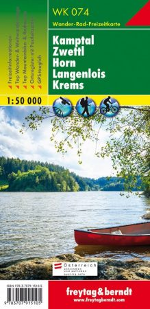Kamptal – Zwettl – Horn – Langenlois – Krems turistatérkép - f&b WK 074