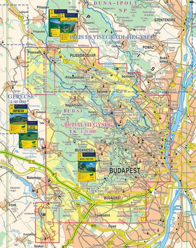budai hegység térkép Budai hegység turistatérkép   Cartographia   Útikönyv   Térkép  budai hegység térkép
