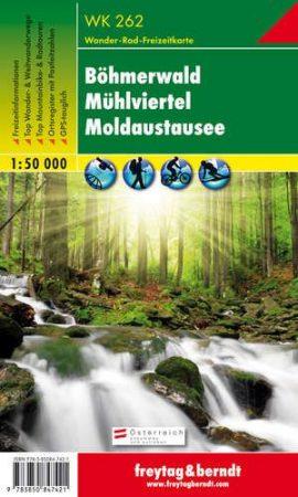 Böhmerwald-Mühlviertel-Moldaustausee turistatérkép - f&b WK 262