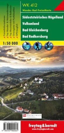 Südsteirisches Hügelland – Vulkanland – Bad Gleichenberg – Bad Radkersburg turistatérkép - f&b WK 412