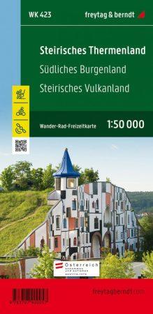 Steirisches Thermenland – Südliches Burgenland – Steirisches Vulkanland turistatérkép - f&b WK 423