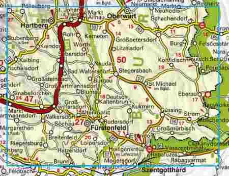 ausztria térkép burgenland Steirisches Thermenland – Südliches Burgenland – Steirisches  ausztria térkép burgenland