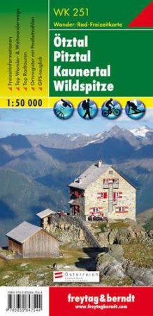 Ötztal-Pitztal-Kaunertal-Wildspitze turistatérkép - f&b WK 251