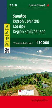 Saualpe – Region Lavanttal – Koralpe – Region Schilcherland  turistatérkép - f&b WK 237