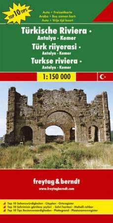 Török Riviéra: Antalya-Kemer Top 10 tipp autótérkép - f&b AK 6001
