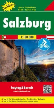 OE 66 - Salzburg tartomány Top 10 Tipp autótérkép - f&b