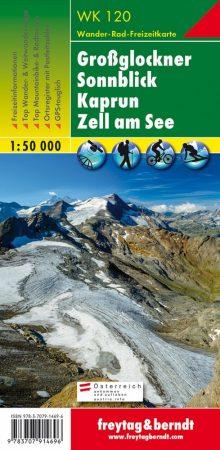 Großglockner – Sonnblick – Kaprun – Zell am See turistatérkép - f&b WK 120
