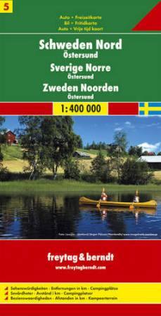 Észak-Svédország: Östersund (Svédország 5) térkép - f&b AK 06611