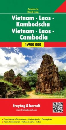Vietnám - Laosz - Kambodzsa autótérkép - f&b AK 186