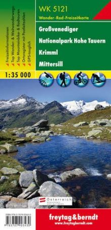 Großvenediger – Nationalpark Hohe Tauern – Krimml – Mittersill turistatérkép - f&b WK 5121