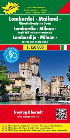 No 2. - Lombardia: Milanó - Észak-olasz tóvidék Top 10 Tipp autótérkép - f&b AK 0612