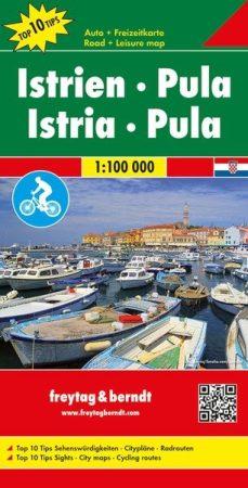Isztria - Pula Top 10 tipp autótérkép - f&b AK 7405
