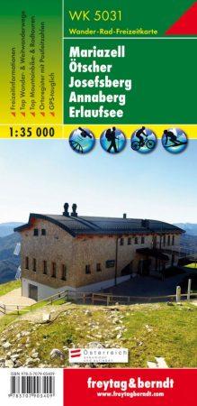 Mariazell – Ötscher – Josefsberg – Annaberg – Erlaufsee turistatérkép - f&b WK 5031