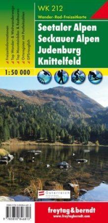 Seetaler Alpen-Seckauer Alpen-Judenburg-Knittelfeld turistatérkép - f&b WK 212