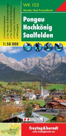 Pongau – Hochkönig – Saalfelden turistatérkép - f&b WK 103