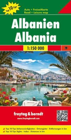 Albánia autótérkép - f&b AK 9503