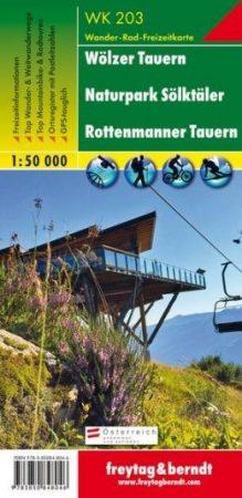 Wölzer Tauern-Sölktal-Rottenmanner Tauern turistatérkép - f&b WK 203