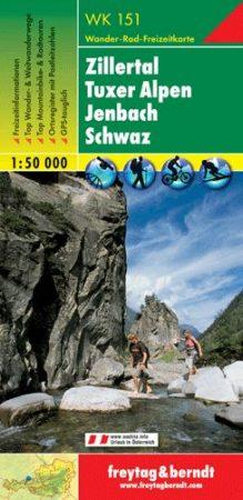 Zillertal – Tuxer Alpen – Jenbach – Schwaz turistatérkép - f&b WK 151