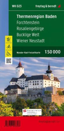 Thermenregion Baden – Forchtenstein – Rosaliengebirge – Bucklige Welt – Wiener Neustadt turistatérkép - f&b WK 023