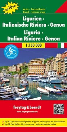 No 4. - Liguria: Olasz Riviéra - Genova Top 10 autótérkép - f&b AK 0608