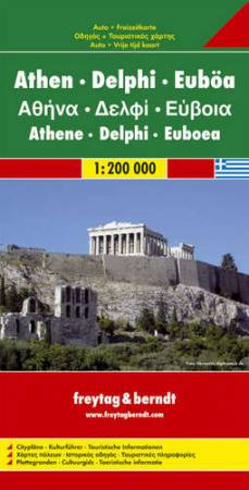 Athen - Delphi - Egina autótérkép - f&b AK 0826