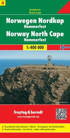 Norvégia: Északi-fok - Hammerfest (Norvégia 4) autótérkép - f&b AK 0658