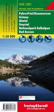 Pyhrn-Priel-Grünau-Almtal-Steyrtal-Nationalpark Kalkalpen-Bad Aussee turistatérkép - f&b WK 081