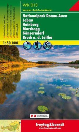 Nationalpark Donau-Auen – Lobau – Hainburg – Marchegg – Gänserndorf – Bruck a.d. Leitha turistatérkép - f&b WK 013